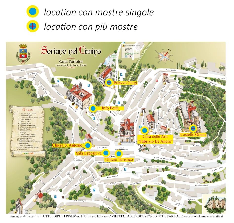 piantina con siti